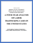 A Four-Year Analysis of Labor Trafficking Cases in the United States