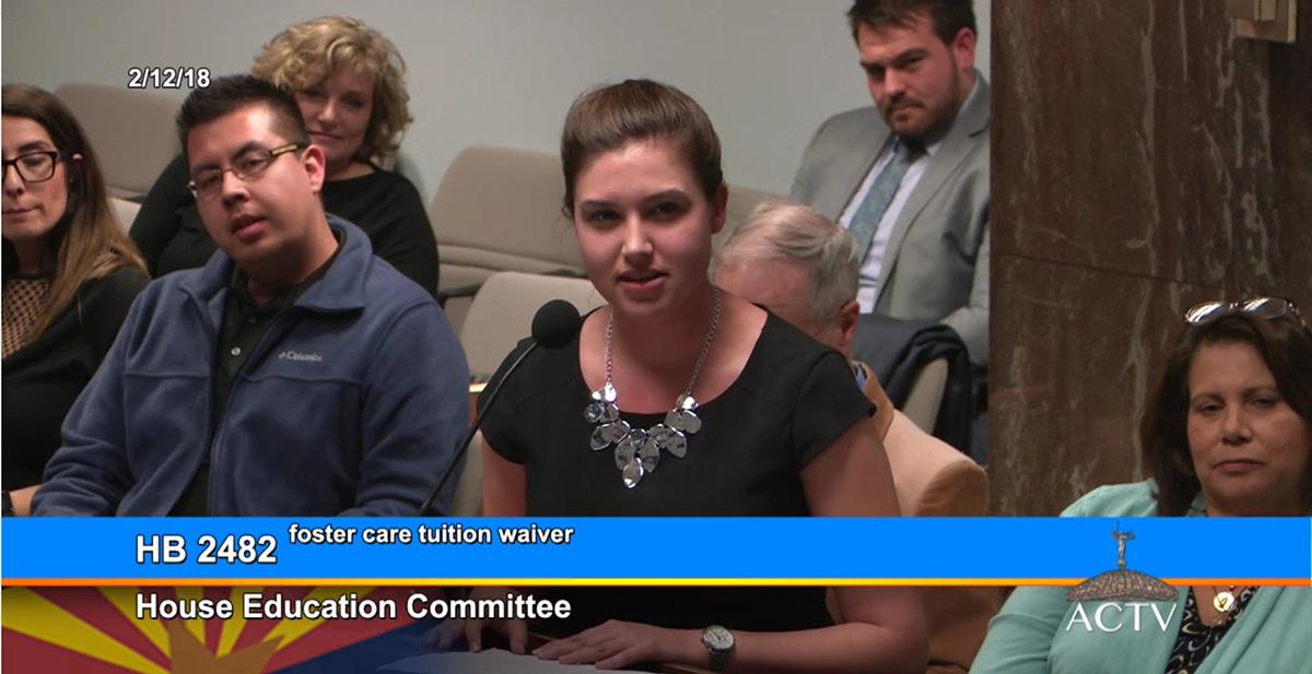 Breanna Carpenter testifies before House Education Committee