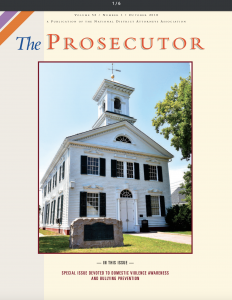 Cover of The Prosecutor magazine